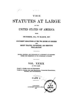 United States Statutes at Large Volume 39 Part 2.djvu