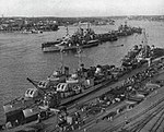 United States Twelfth Fleet ships at anchor at Stockholm, Sweden, in July 1946.jpg