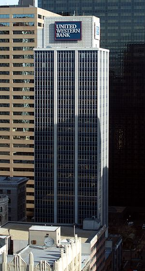 United Western Financial Center - Image: United Western Bank Building in Denver Colorado