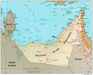 Emirate of Abu Dhabi - Geographic map of the emirate of Abu Dhabi