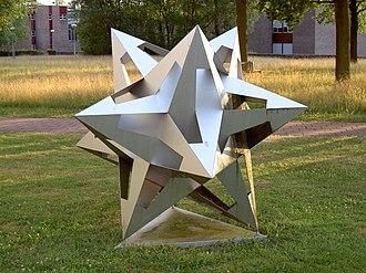 Polyhedron model - Image: Universiteit Twente Mesa Plus Escher Object