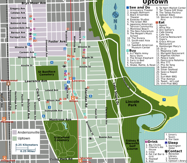cta loop map with Uptown on Chicago Map Pdf moreover Uptown additionally Then And Now A Brief History Of The Chicago L further Chicago Top Tourist Attractions Map as well 2302 Rail Service Alerts.