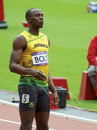 Sprint (running) - Usain Bolt, world record holder in 100 m and 200 m sprints