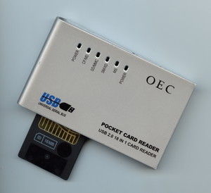 USB mass storage device class - A USB card reader such as this one will typically implement the USB mass storage device class.