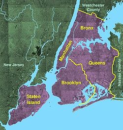 Geography Of New York City Wikipedia - New york city map with boroughs