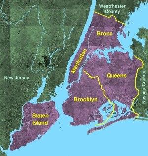 Usgs photo New York five boroughs