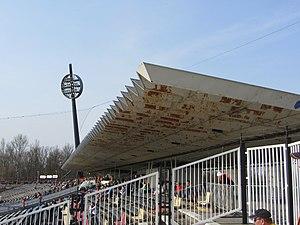 Všesportovní stadion - Image: Všesportovní stadion East Grandstand