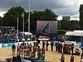 VISA FIVB Beach Volleyball International medel ceremony.jpg