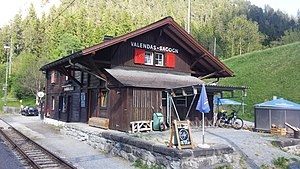 Valendas-Sagogn (Rhaetian Railway station) - Image: Valendas Sagogn 2017 05 22 17.33.26