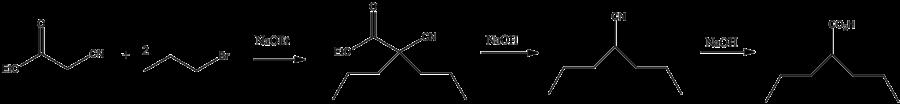 Synthese von Valproinsäure