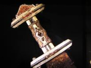 Valsgärde - Hilt with cloisonné decoration from Valsgärde.