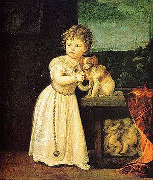 Portrait of Clarissa Strozzi - Image: Vecellio, Tiziano Clarice Strozzi 1542
