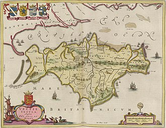 Bembridge - 1665 map of Vectis Insula
