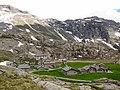 Veduta panoramica dell'Alpe Prabello a 2.287 m.a.s.l. - sullo sfondo Pizzo Scalino 3.323 m s.l.m - Valmalenco, Sondrio, Italy - 2018-06-09.jpg