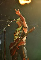 "Venom, Conrad ""Cronos"" Lant at Party.San Metal Open Air 2013 13.jpg"