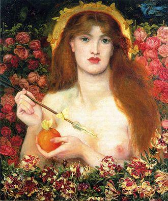 Apple (symbolism) - Venus Verticordia – Dante Gabriel Rossetti – 1866