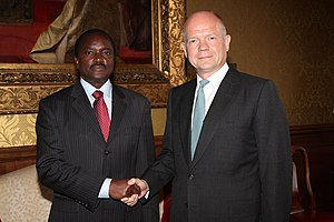 Kalonzo Musyoka - Vice President Kalonzo Musyoka meeting the British Foreign Secretary William Hague in London, 29 August 2012