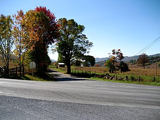 Highland County, Virginia - A typical view of valleys and mountain ridges near Hightown