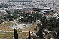 View of the Museum of Acropolis and the Theatre of Dionysus from the Acropolis of Athens.jpg