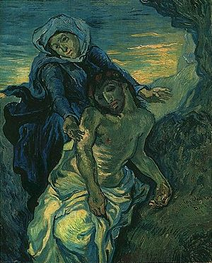 Collection of Modern Religious Art, Vatican Museums - Vincent van Gogh, ''Pietà, after Delacroix (first version)'', 1889. Oil on canvas, 41,5 x 34 cm, Vatican Collection of Modern Religious Art