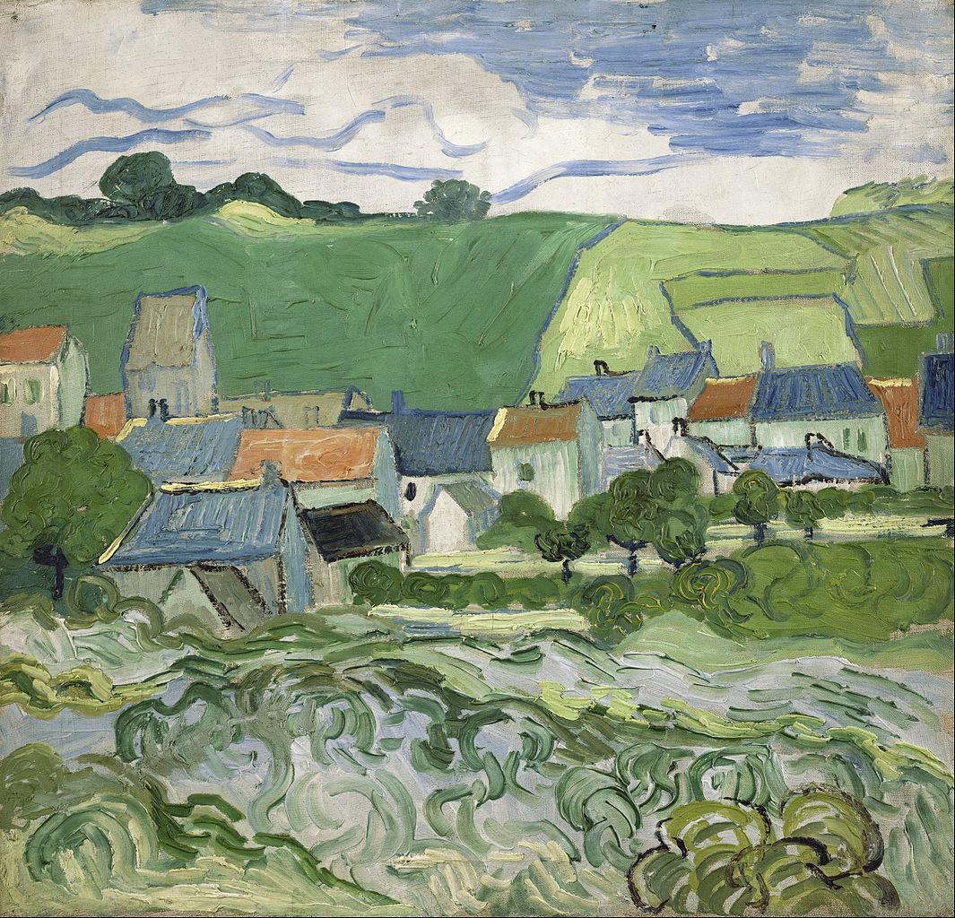 Vue sur Auvers de Van Gogh (1890).