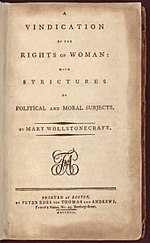 essay on a vindication of the rights of women