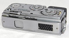 Vintage Mamiya 16 Automatic Spy-Type Film Camera, Made In Japan, A Subminiature Viewfinder Camera, Uses 16mm Film, Introduced In 1959 (16717350111).jpg