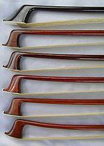 Punte di archi moderni, il primo di legno ferro, gli altri in pernambuco