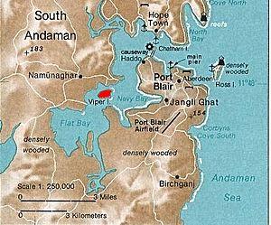 Battle of Aberdeen (Andaman Islands) - Map showing location of Aberdeen