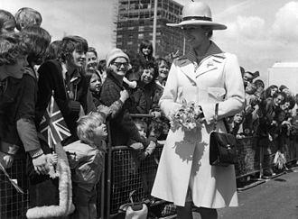 Anne, Princess Royal - Princess Anne in a visit to Washington, Tyne and Wear, 1974