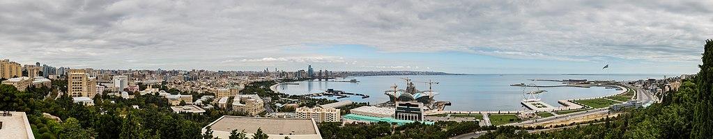 Panoramic view of Baku, capital of Azerbaijan.