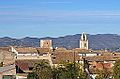 Vista de les dues torres d'Almudaina, el Comtat.JPG