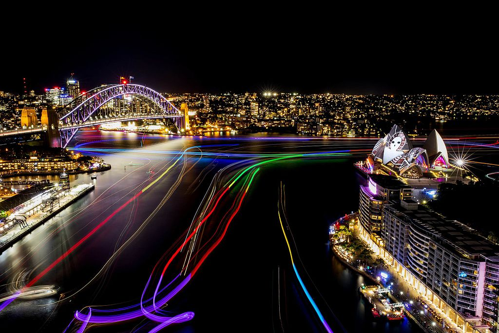 Vivid Sydney 2016 Sydney Harbour Harbour Lights CREDIT Destination NSW JH 001