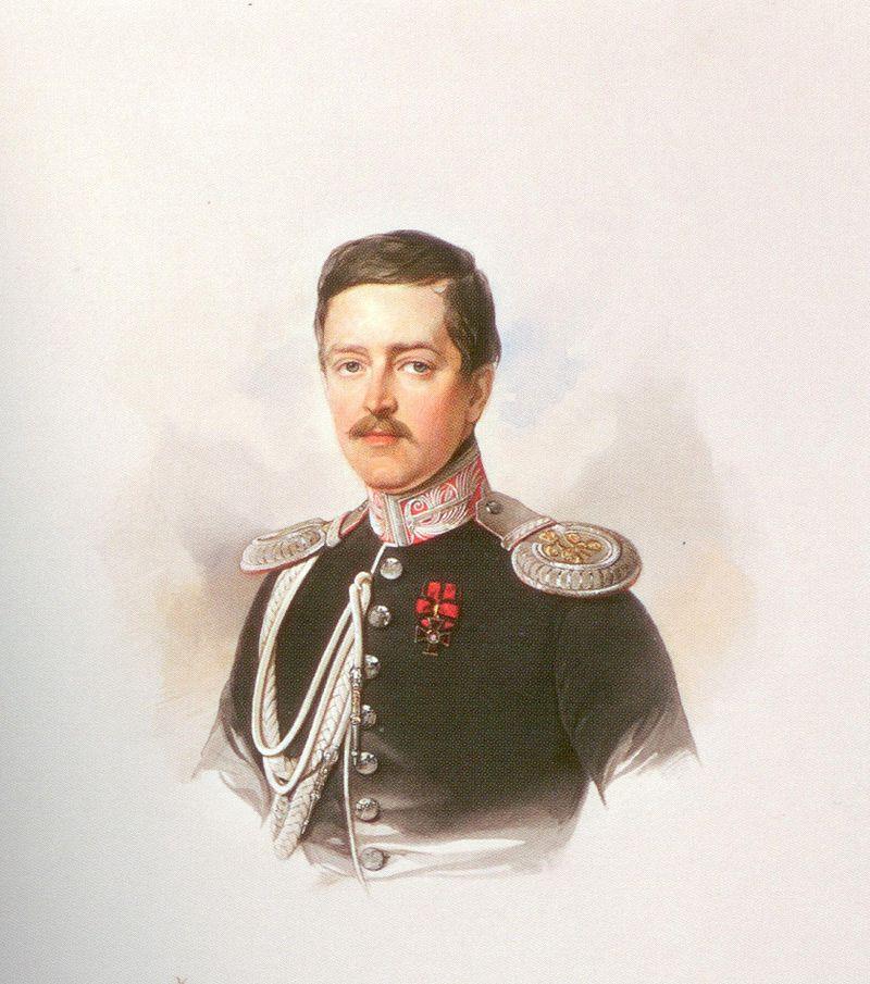 Акварельный портрет В. И. Гау (1847)