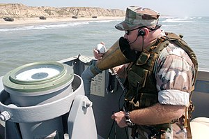 Speaking tube - A speaking tube in use on a United States Navy Landing Craft Utility (2005)