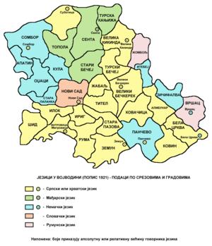 etnicka karta vojvodine Историја Војводине — Википедија, слободна енциклопедија etnicka karta vojvodine