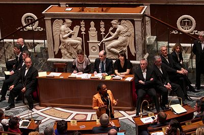 Le texte de loi en seconde lecture à l'Assemblée nationale. Photo E. Walter - CC-By-SA