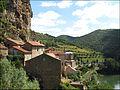 Vue sur le village de Peyre et sur le Tarn.JPG