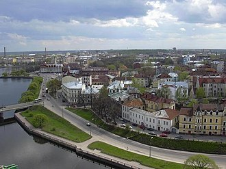 Zashchitnaya Bay - The other waterway from the Bay of Vyborg to Zashchitnaya Bay is Linnansalmi, in which the Castle of Vyborg is located. The old ship route to Saimaa Canal up to 1930s ran through Linnansalmi.
