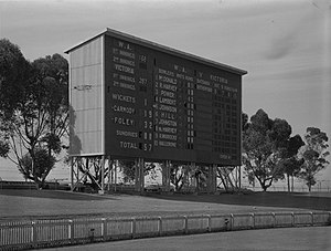 WACA Ground - The WACA scoreboard at its opening in December 1953