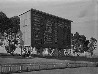 WACA Ground - The WACA scoreboard at its opening in December 1953
