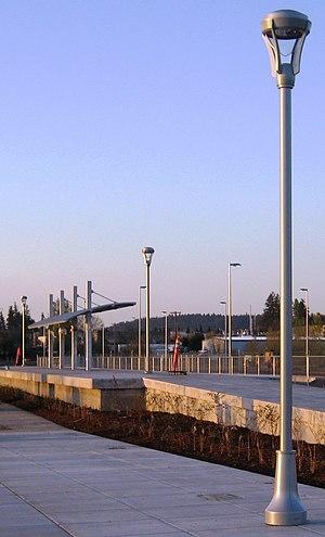 WES Commuter Rail - Wilsonville Station under construction