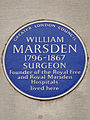 WILLIAM MARSDEN 1796-1867 SURGEON Founder of the Royal Free and Royal Marsden Hospitals lived here.jpg