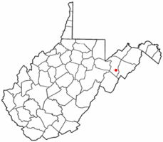 Location of Petersburg, West Virginia