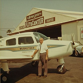 Wally Timm - Wally Timm at the Norman Lawson Flite Center, c. 1950