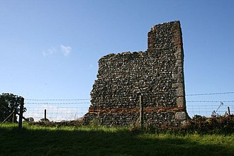 Wallingford Castle - One of the few pieces of castle wall to survive the slighting in 1652