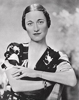 Wife of Edward VIII of the United Kingdom