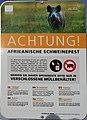 """Warntafel """"Afrikanische Schweinepest"""" Nockberge.jpg"""