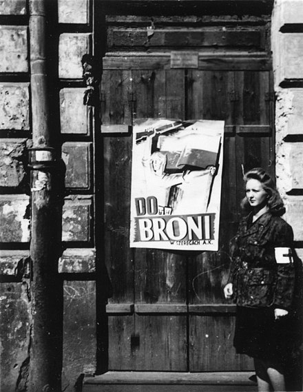 """To arms!"" Home Army poster during the 1944 Warsaw Uprising Warsaw Uprising poster 345.jpg"