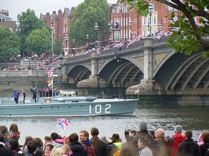 Warship in Queen's Jubilee Pageant, Chelsea.jpg
